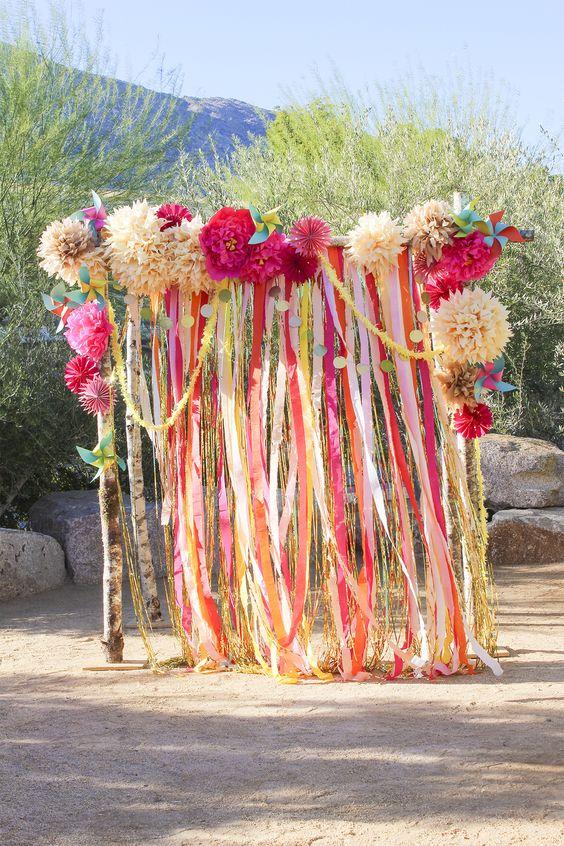 ce4c0ad7d 26 ideas originales para decorar un altar de boda | Bohemian and chic