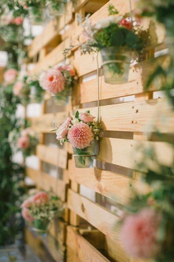 Matrimonio Rustico Como : Ideas para utilizar un palet en una boda rústico chic