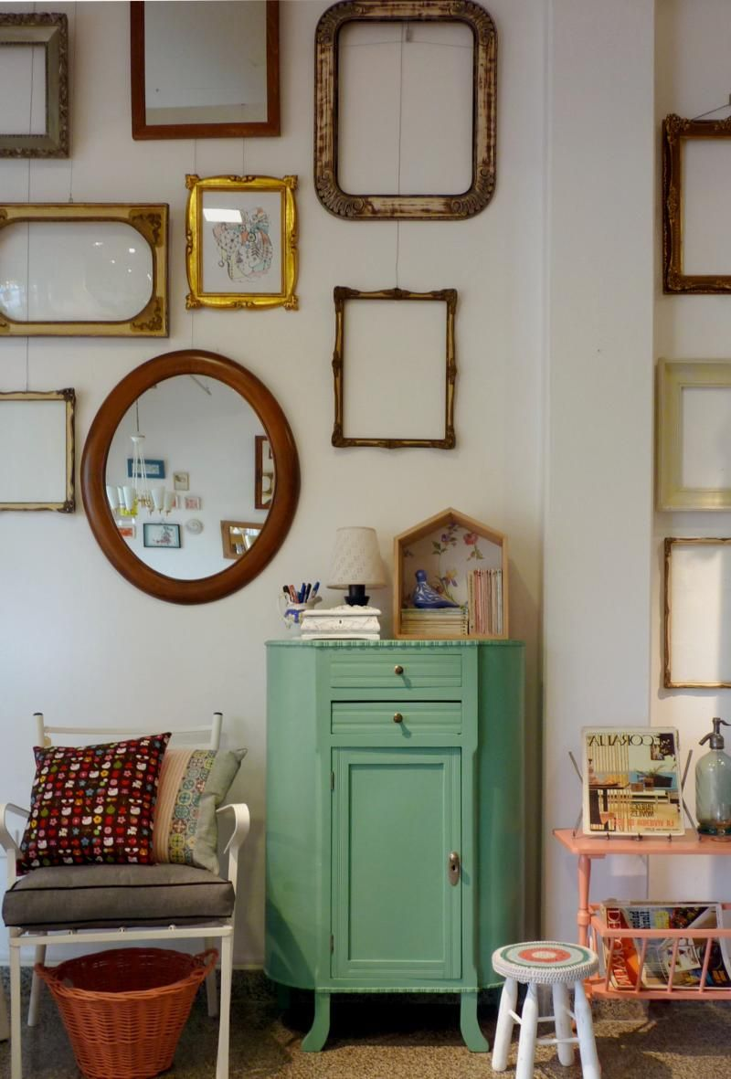 21 ideas para decorar con espejos vintage