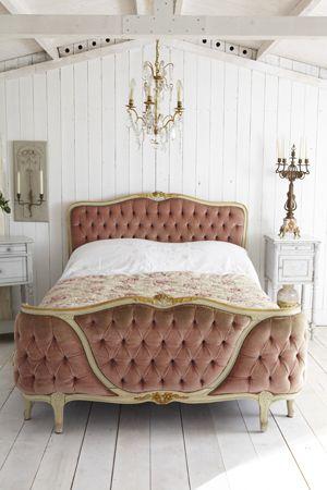 Cama vintage estilo luis xv tienda online de decoraci n for Camas estilo vintage