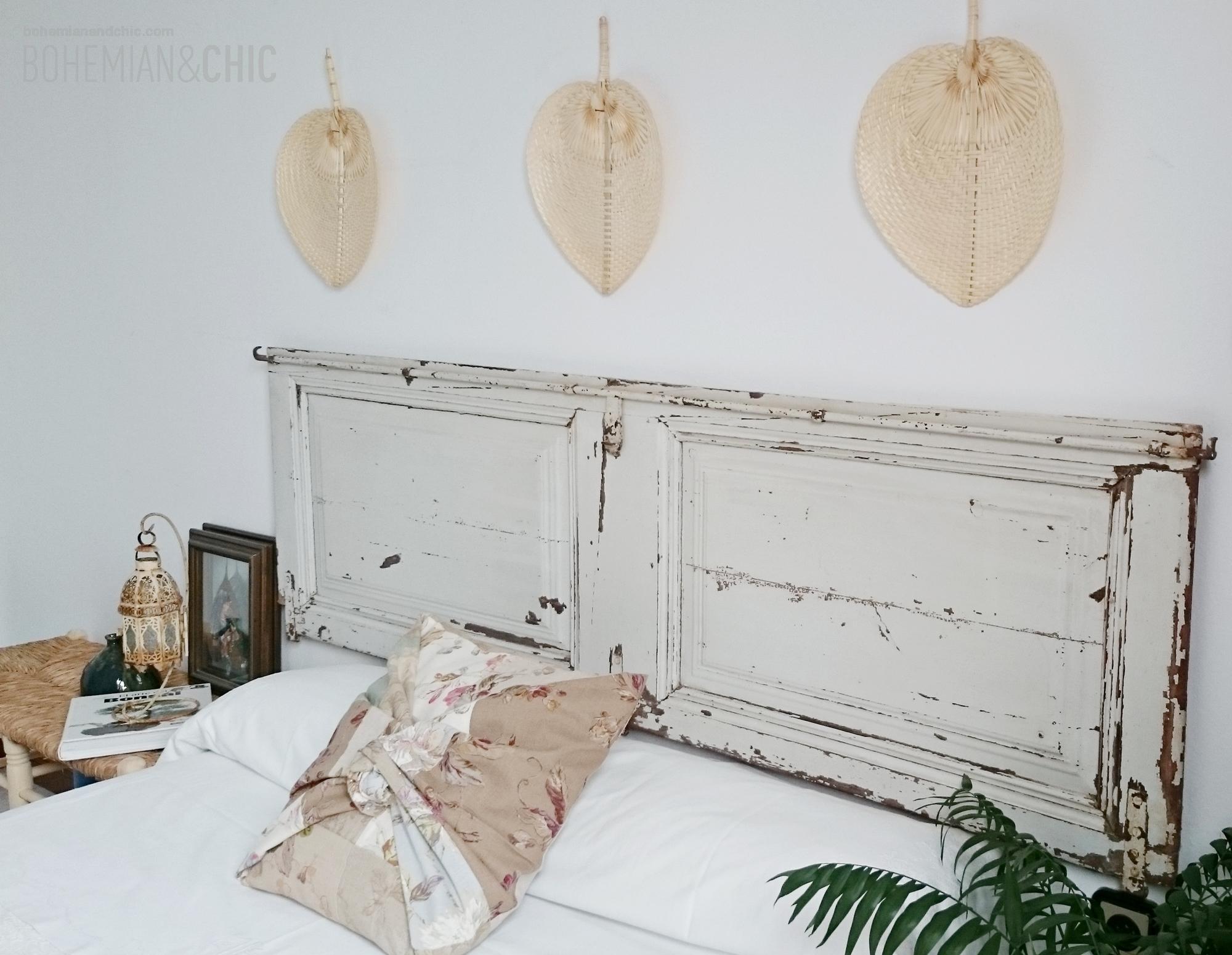 C mo decorar la cabecera de la cama con una puerta for Como hacer una puerta reciclada