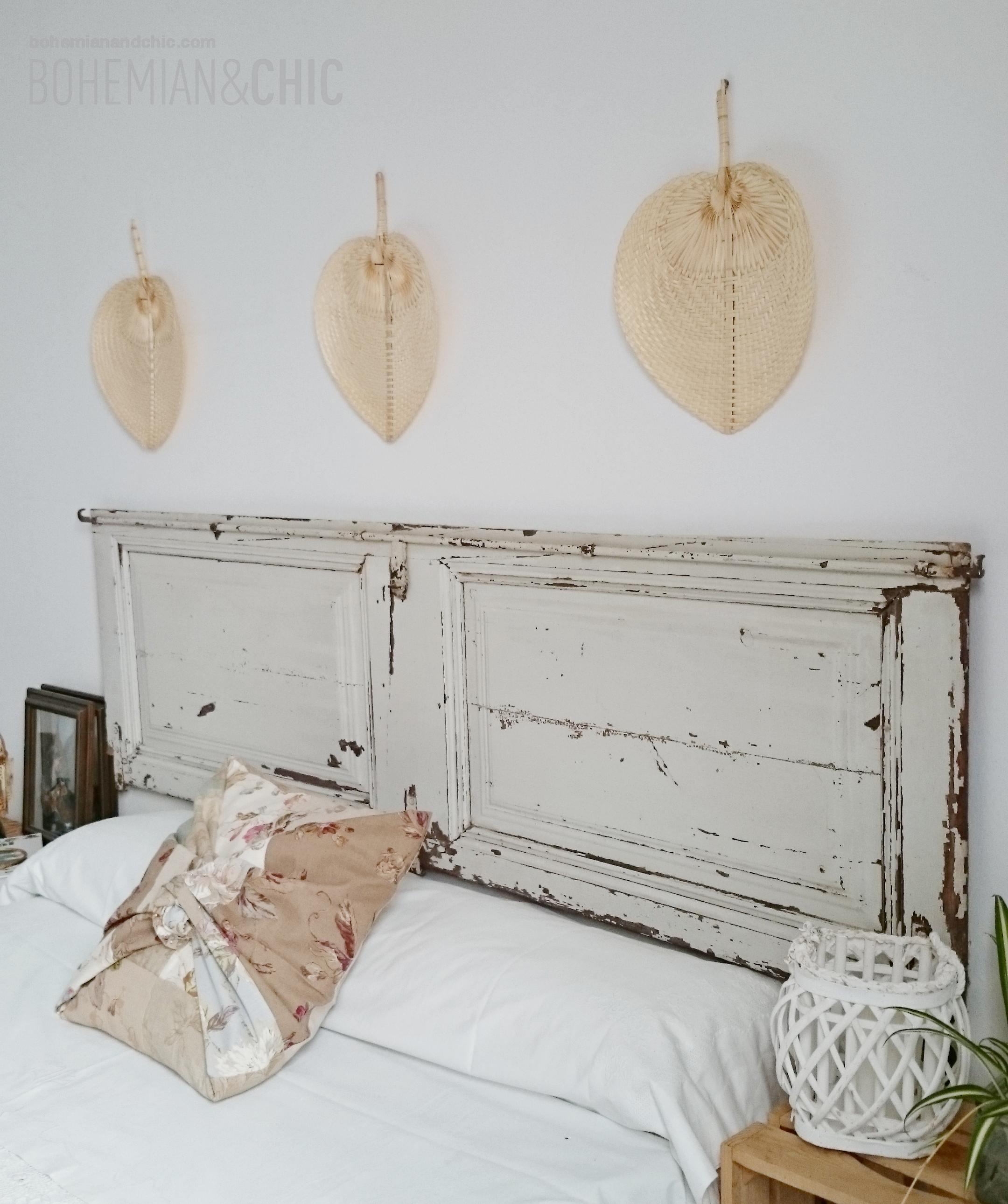 C mo decorar la cabecera de la cama con una puerta - Cabecera de cama reciclada ...