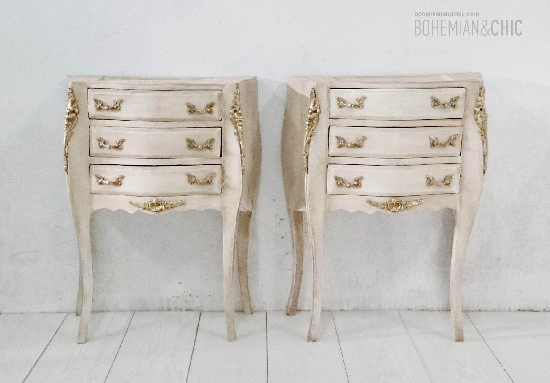 dormitorio de aire barroco con muebles restaurados | Tienda online ...