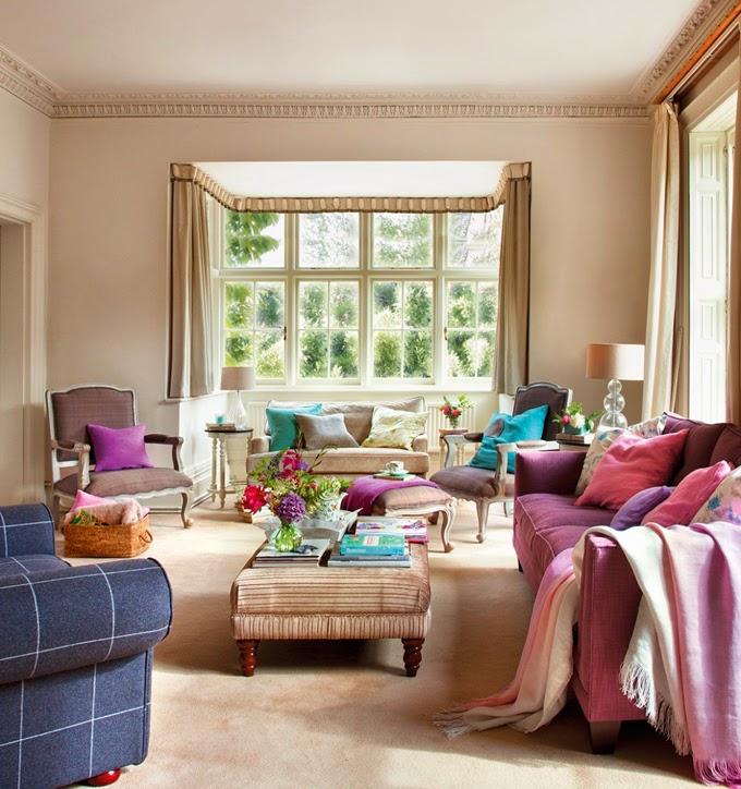 Una casa de campo llena de color tienda online de - Muebles para casa de campo ...