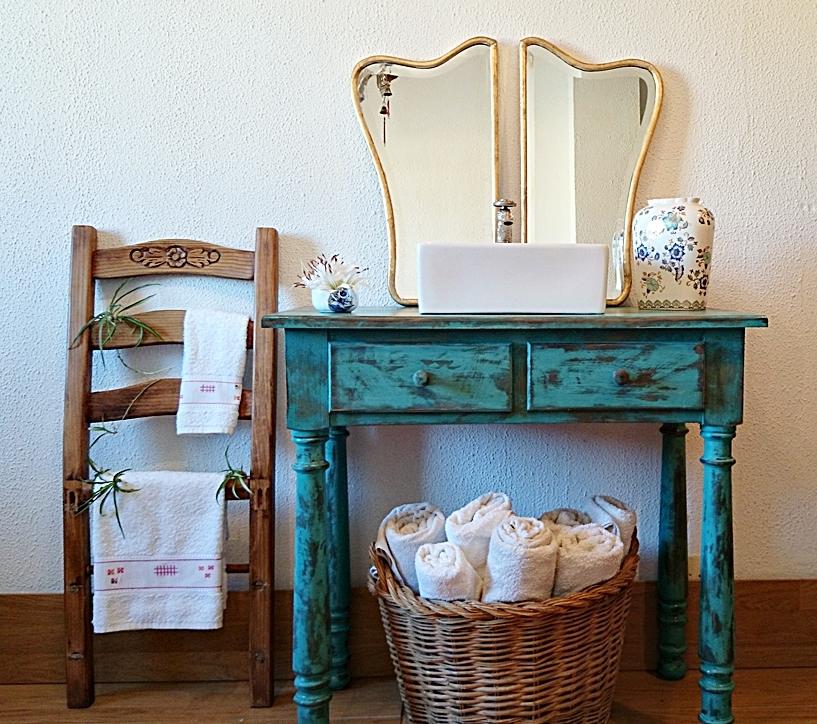 17 ideas para conseguir un ba o de estilo r stico tienda - Muebles de bano rusticos online ...