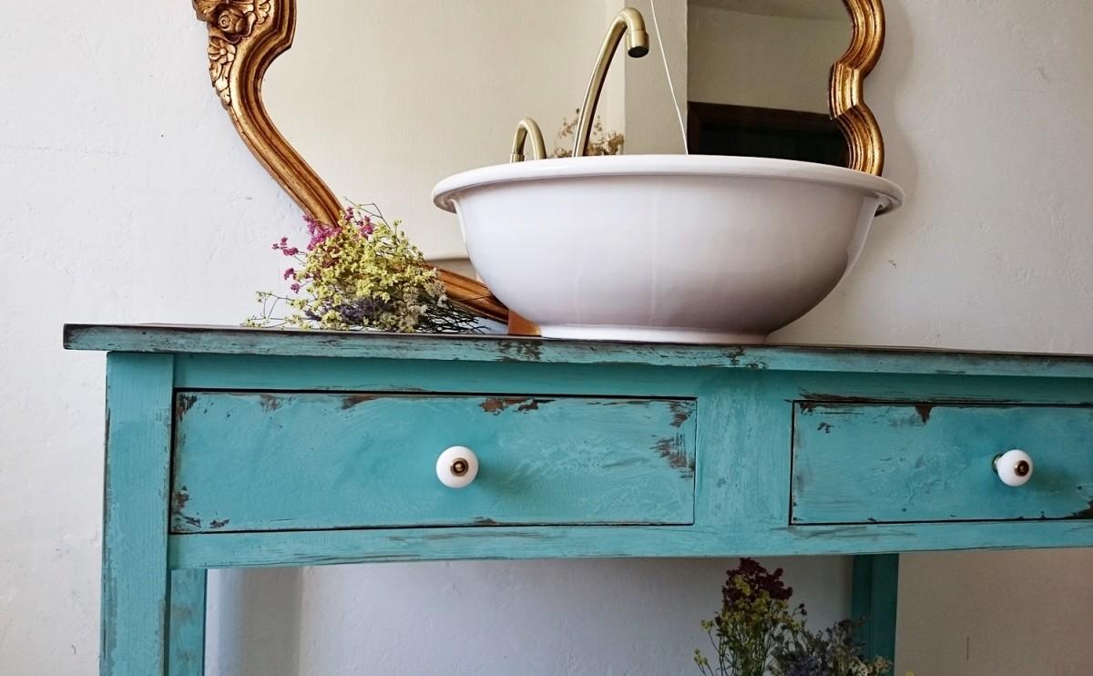 Mueble Baño Turquesa:opción que hemos creado es un mueble de baño grande en turquesa