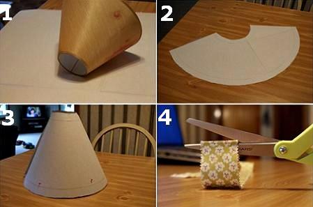 como reciclar una antigua pantalla how to recycle a old lampshade