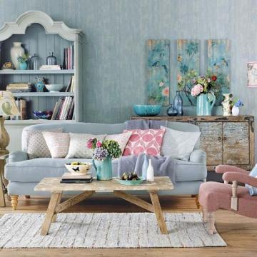 Decorar con el color blue serenity