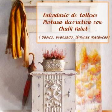 Calendario de talleres pintura decorativa con Chalk Paint