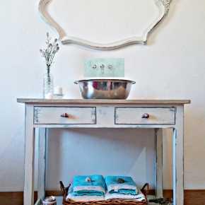 Mueble de ba o decapado en blanco antiguo tienda online de decoraci n y muebles personalizados - Banos shabby chic ...