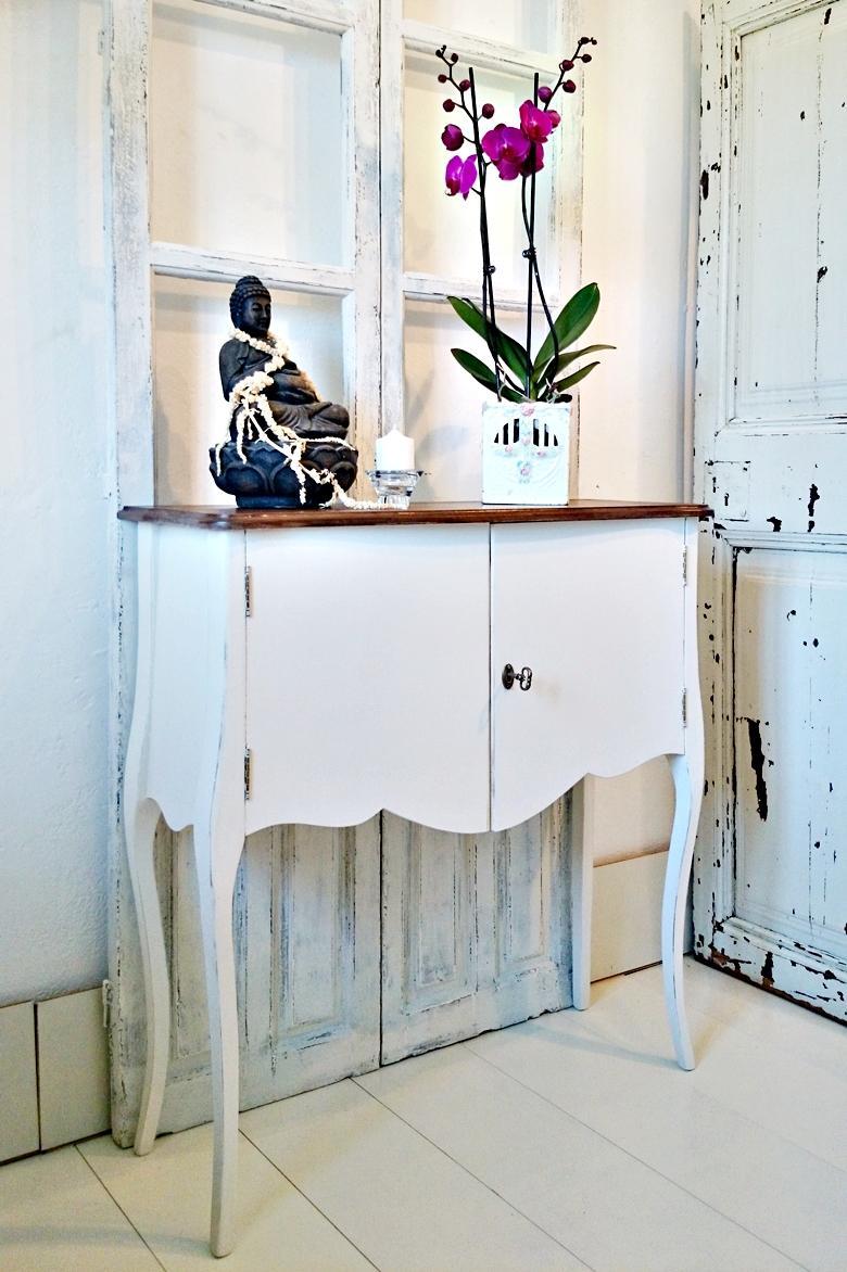 Consola 2 puertas en blanco y madera tienda online de for Decoracion en blanco y madera