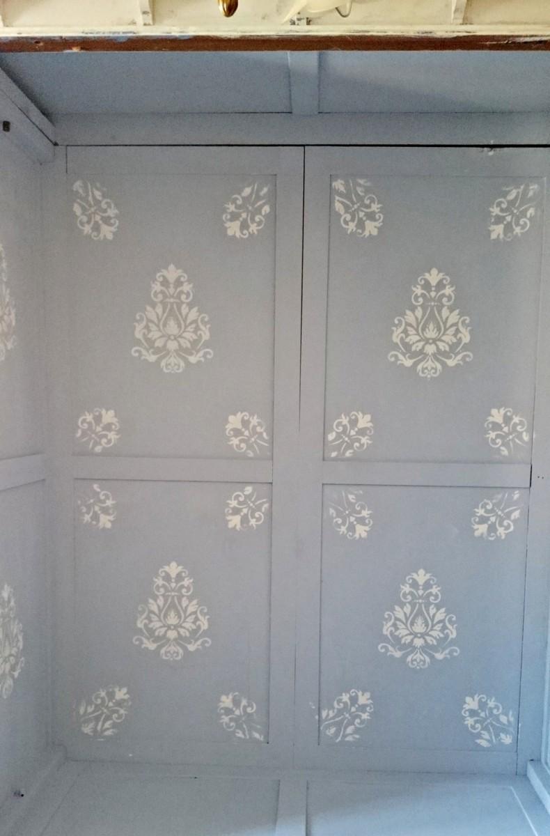 Artesanato Em Tecido ~ Antiguo armario en blanco y azul decapado Tienda online de decoración y muebles personalizados