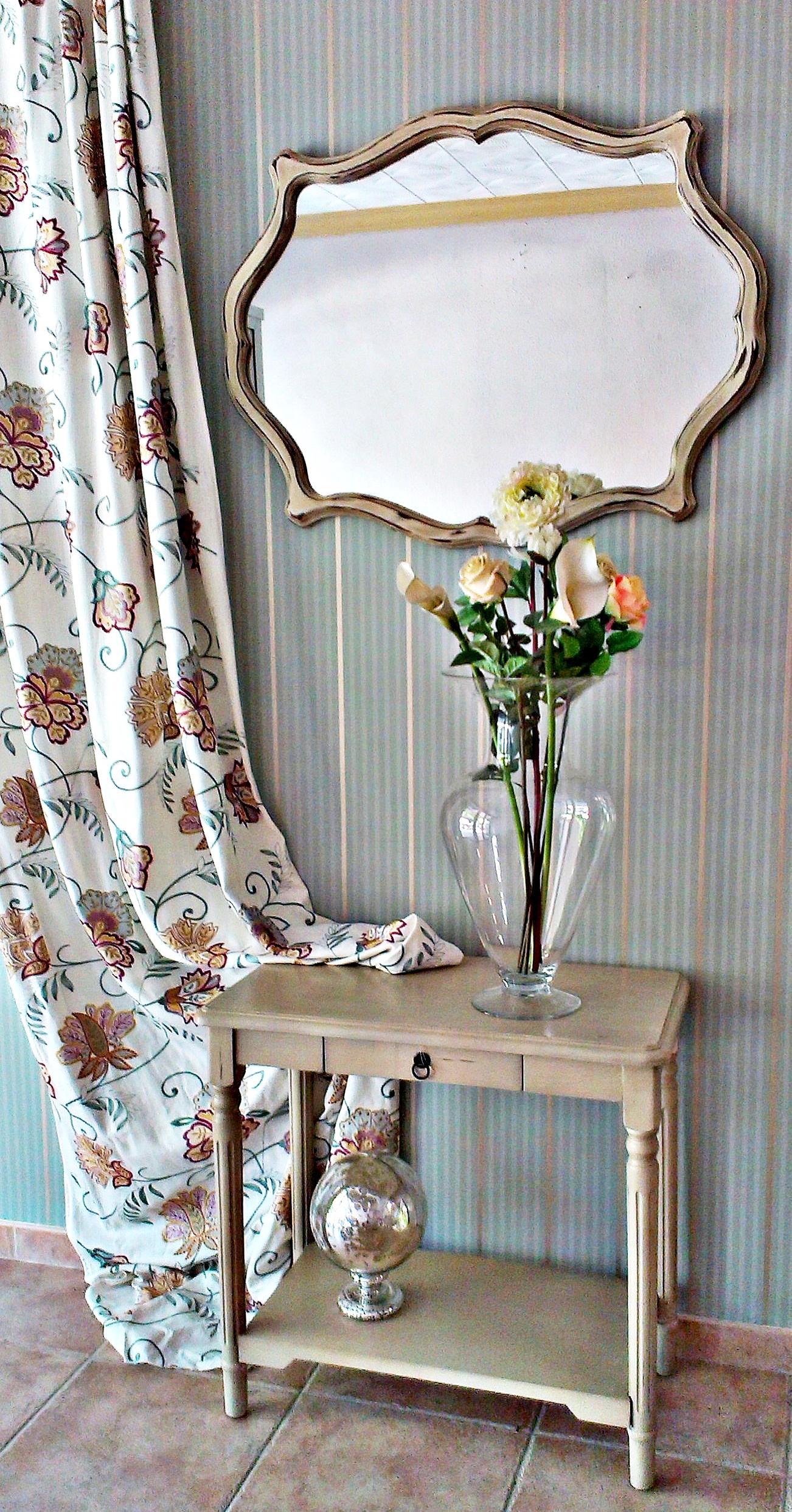 Espejo vintage old ocre tienda online de decoraci n y muebles personalizados - Espejos vintage ...