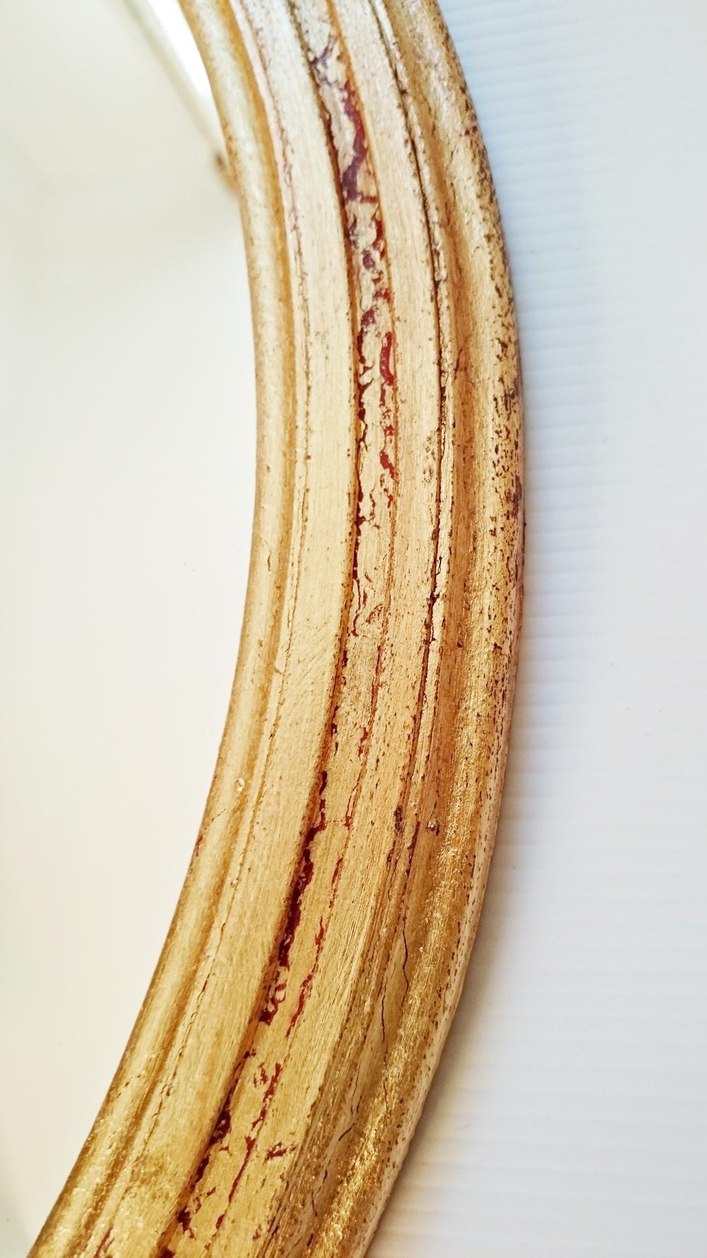 Espejo redondo pan de oro tienda online de decoraci n y for Espejo redondo