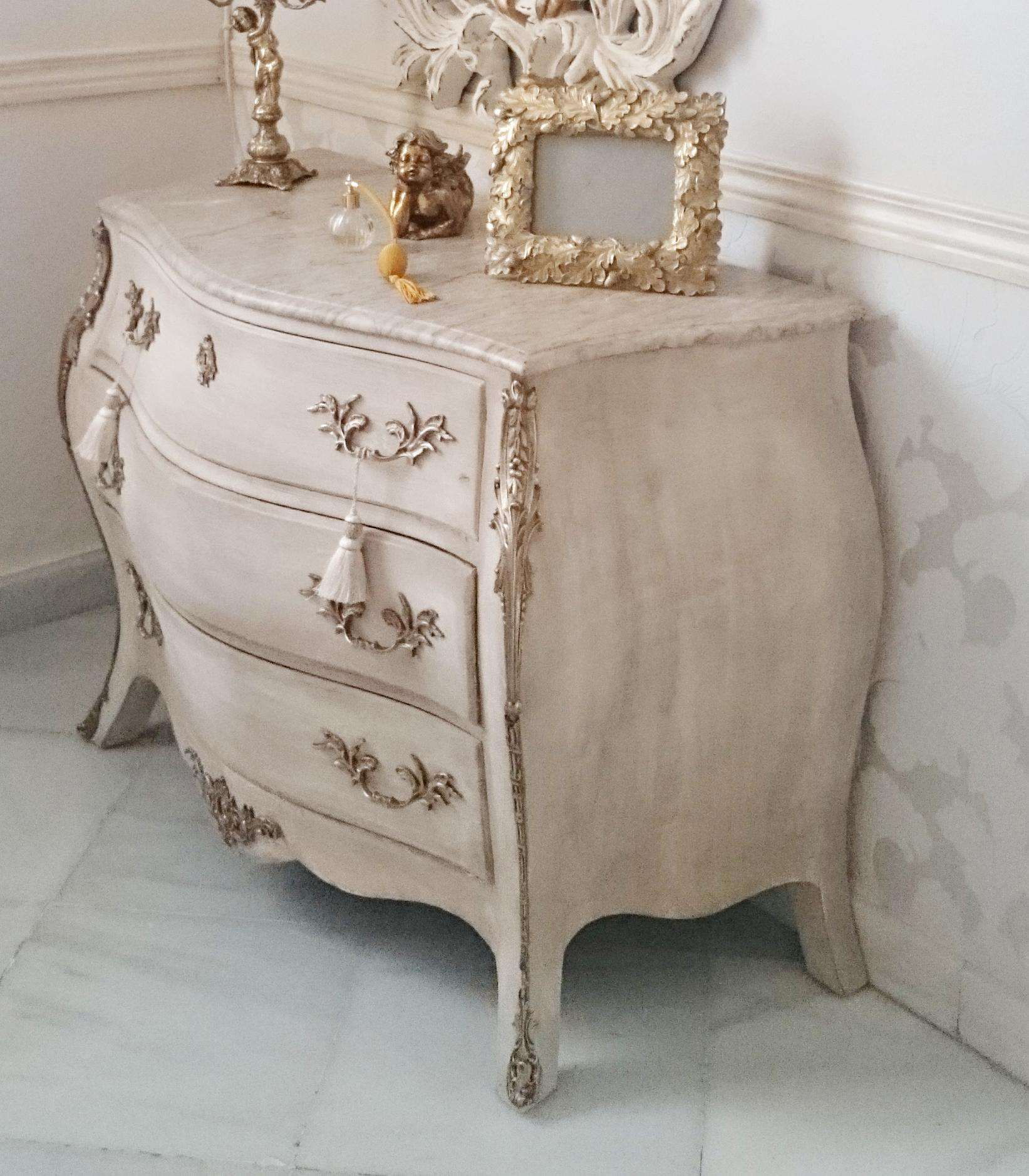 C moda abombada vintage luis xv en blanco patinado - Muebles restaurados online ...