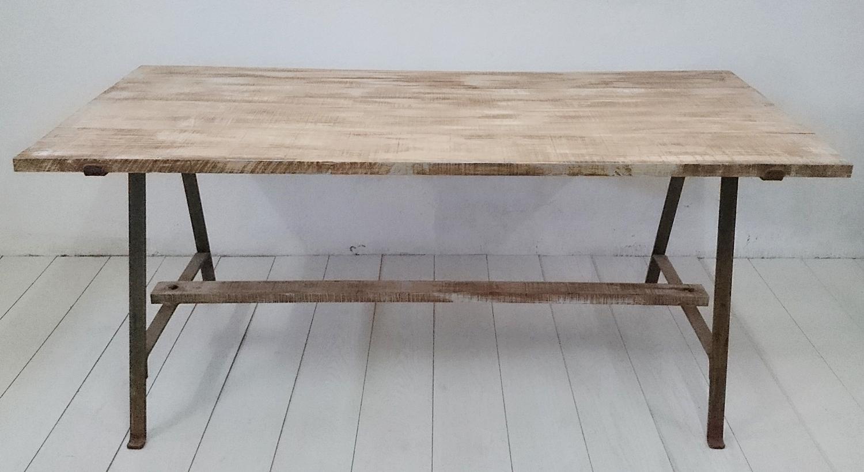 Mesa de comedor en madera y forja | Tienda online de decoración y ...
