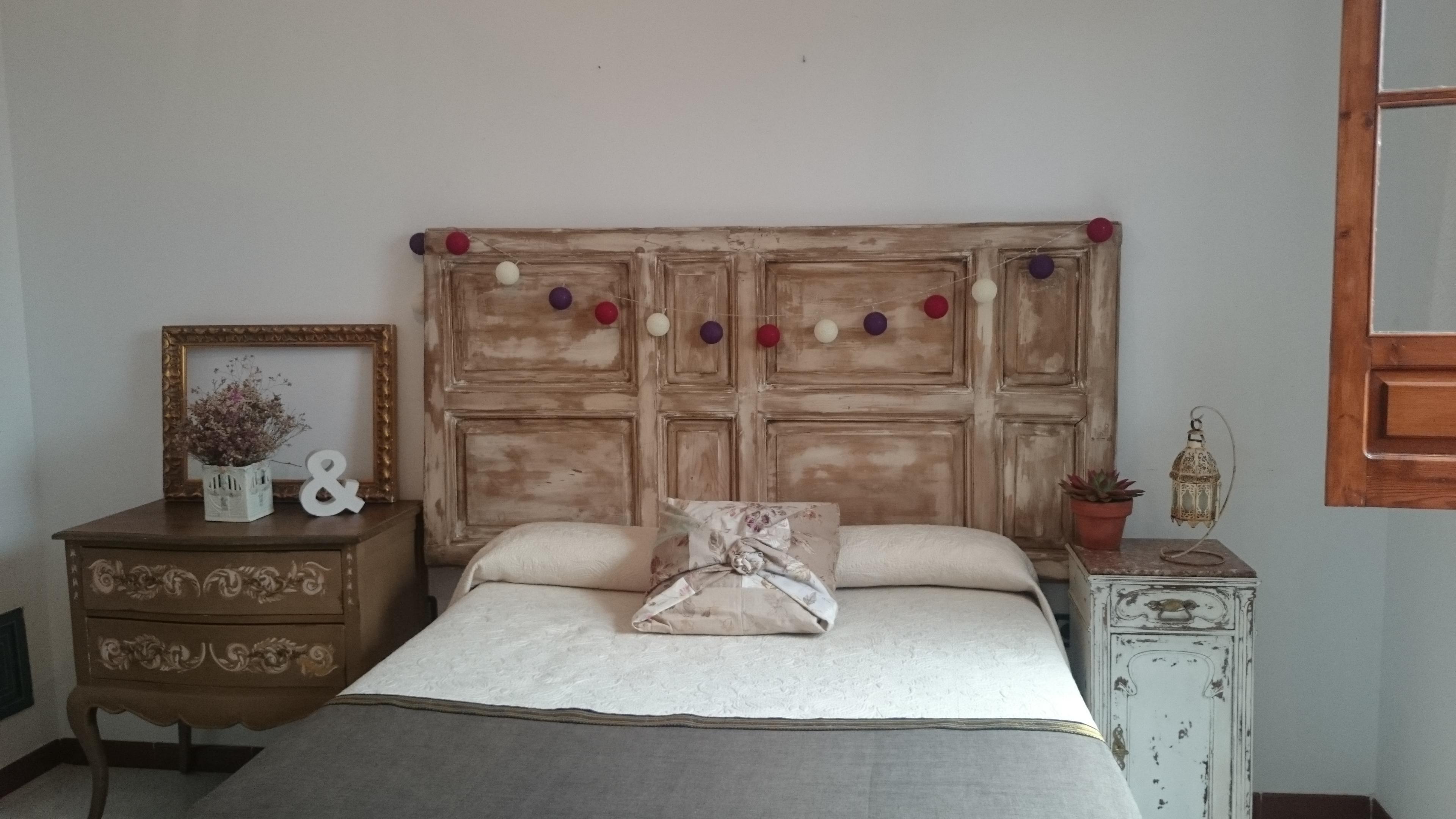 Cabecero de cama doble con puerta antigua tienda online - Cama con cabecero ...
