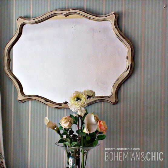 Espejo vintage old ocre tienda online de decoraci n y muebles personalizados - De que color es un espejo ...