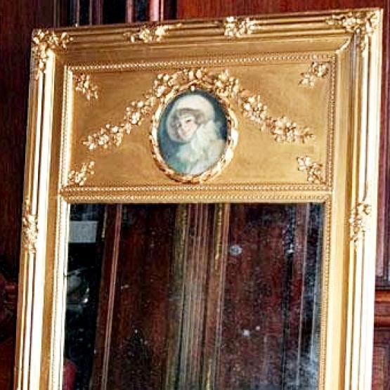 Antiguo espejo tumeau dorado tienda online de decoraci n for Espejo dorado bano