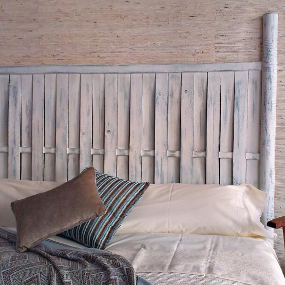 Cabecero rústico decapado en blanco | Tienda online de decoración y ...