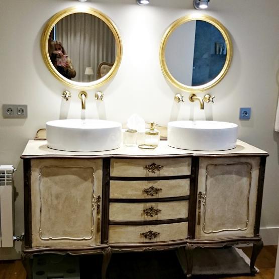 Mueble de ba o vintage estilo luis xv tienda online de decoraci n y muebles personalizados - Mueble bano vintage ...