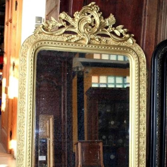 Antiguo espejo dorado franc s tienda online de for Espejo dorado bano