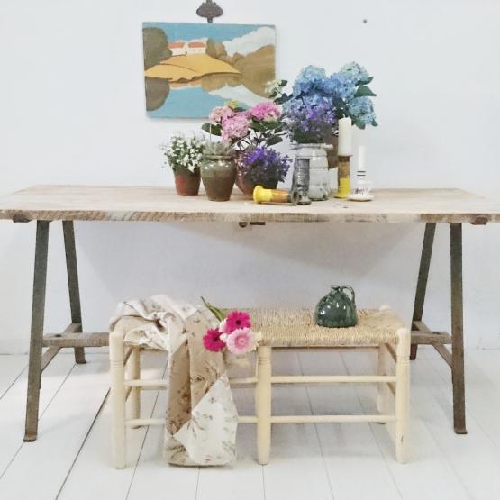 Banco doble de enea color natural | Tienda online de decoración y ...