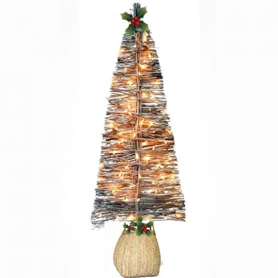 Rbol de navidad plano de ramas con luces tienda online - Luces para arbol de navidad ...