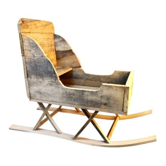 Trineo de madera tienda online de decoraci n y muebles for Trineo madera decoracion