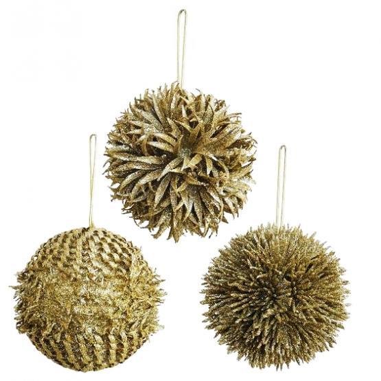 Bola de navidad dorada tienda online de decoraci n y - Bolas de navidad doradas ...