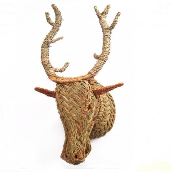 Cabeza de ciervo de esparto tienda online de decoraci n y muebles personalizados - Cabeza de ciervo decoracion ...