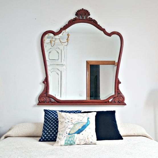Marco con espejo biselado vintage tienda online de for Marco espejo vintage