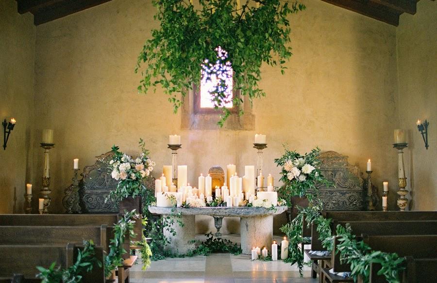 Decoracion Iglesia Boda Velas ~   ideas de c?mo decorar con ramas de olivo una boda  Bohemian and Chic