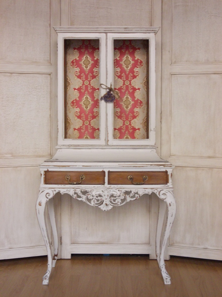 Vitrina estilo luis xv louis xv style cabinet bohemian - Armarios antiguos restaurados ...